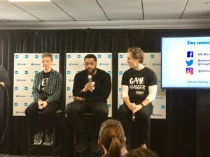 Allstate WE Illinois Day Panel featuring Allstate Chairman and CEO Tom Wilson, Chicago PD's LaRoyce Hawkins and WE Day Co-Founder Craig Kielburger