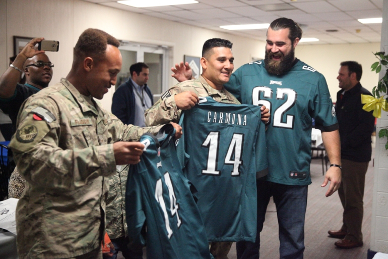 Philadelphia Eagles Military Surprise-5151