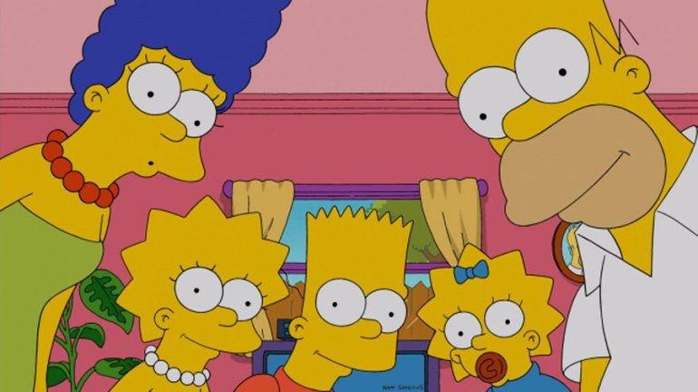 Homer, Bart, Marge and the rest of the Simpson family are pictured on the show.