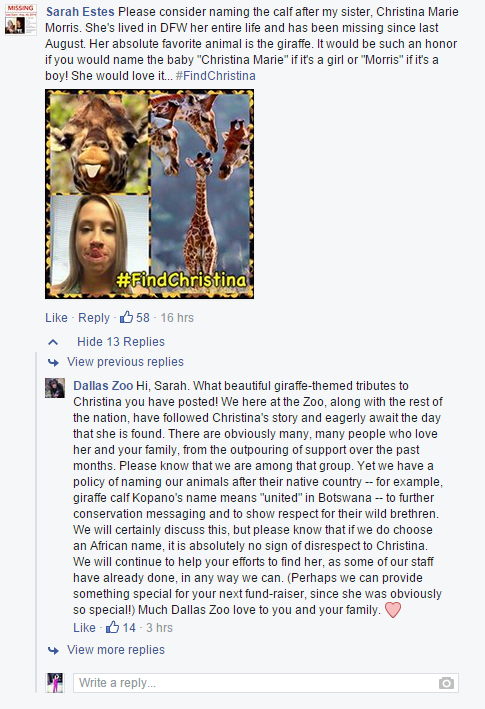 cristinamfacebookpost