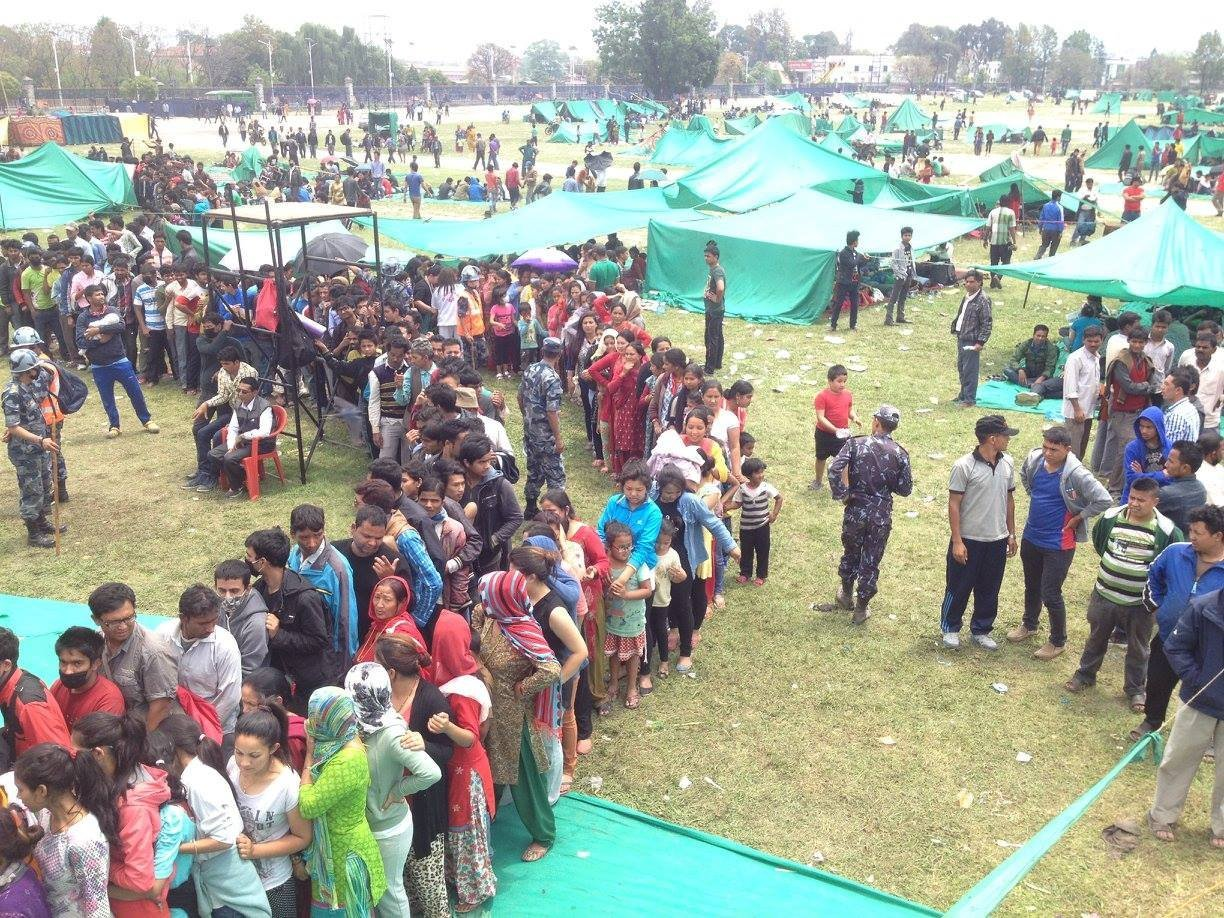 Rescue and aid efforts in Nepal