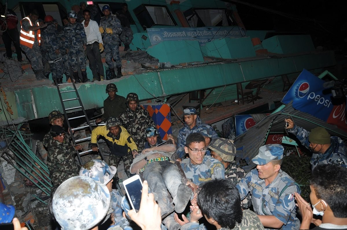 Nepal Armed Police Force released photos of various assistance efforts throughout Nepal