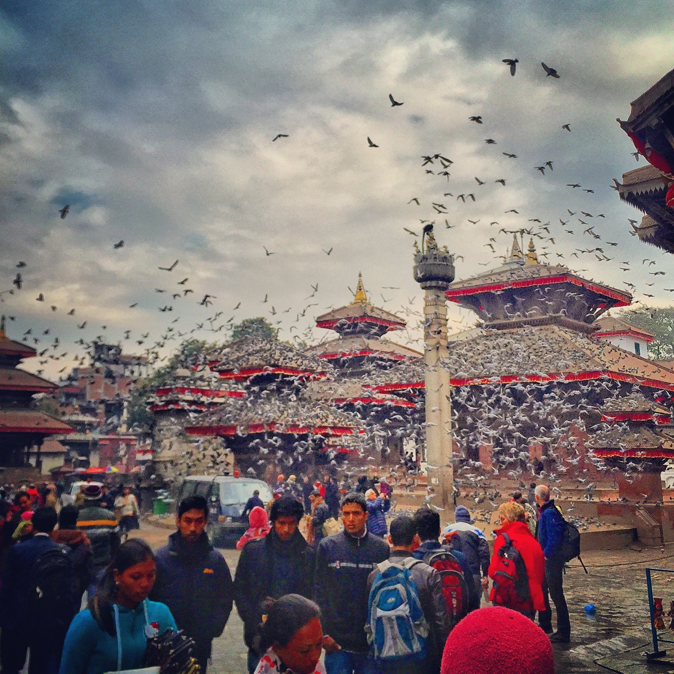 File photos of Durbar Square in Kathmandu on January 2, 2015.