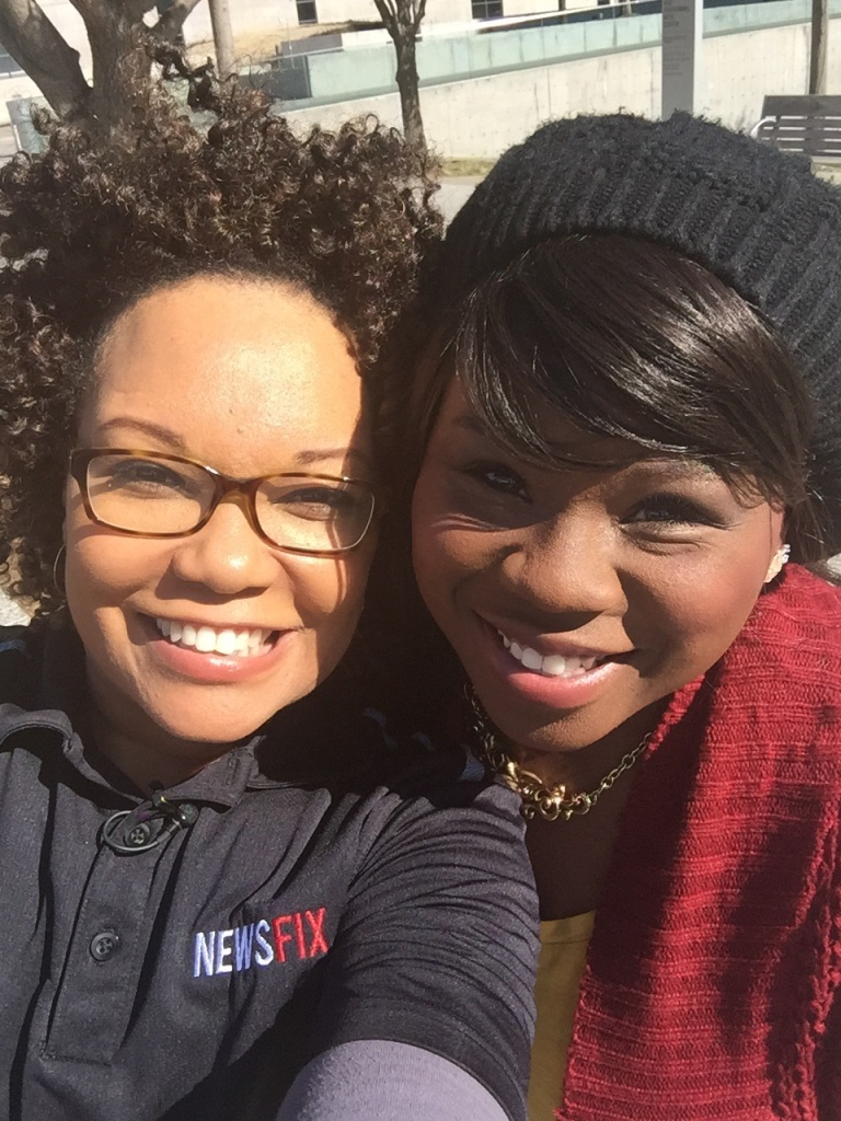 Yolonda and Tiffany Mann BEFORE driving around DFW for a Commuter Convo.