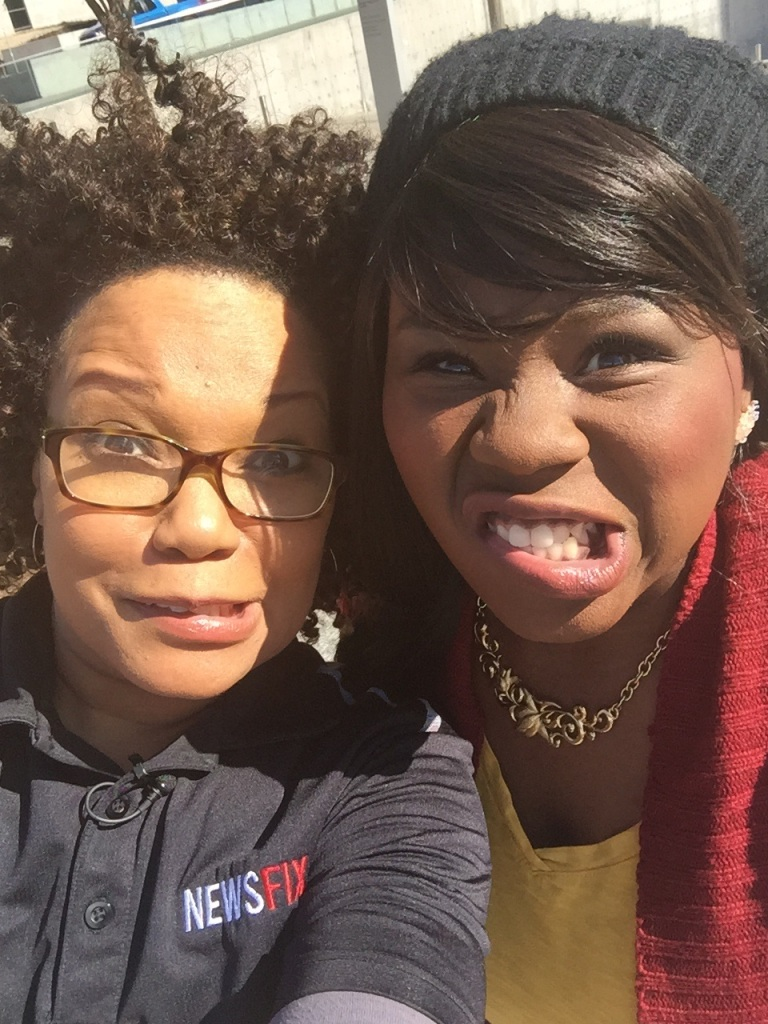Yolonda and Tiffany Mann AFTER driving around DFW for a Commuter Convo.  (Just kidding! We love DFW commuters!)