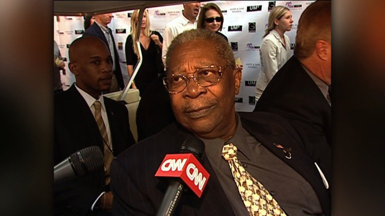 Riley B. King, the legendary guitarist known as B.B. King, whose velvety voice and staccato picking style brought blues from the margins to the mainstream, died Thursday night, May 14, 2015, his daughter said. He was 89. King was admitted to a Las Vegas hospital earlier in May, 2015 after suffering from dehydration, his daughter, Patty King said. His dehydration was caused by Type II diabetes. Photo: B.B. King speaks to CNN on February 20, 2005, during his 80th birthday celebration.