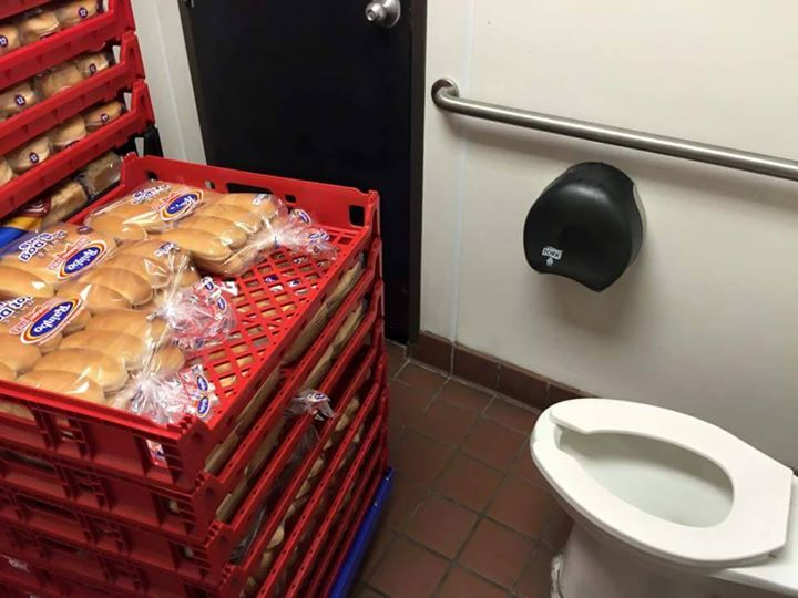BATHROOM BUNS: Not the buns you expect to see in a Topeka, Kansas Sonic's bathroom. A customer snapped this pic May 27, 2015