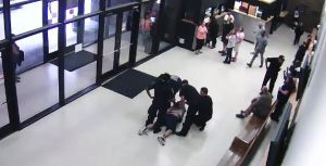 Surveillance video of Joseph Hutcheson's death.