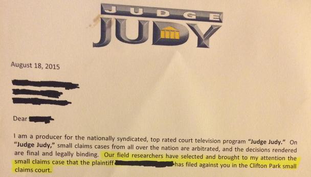 Judge Judy Letter