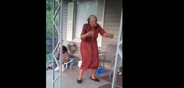86-year-old Claudine Haggerty loves to dance!