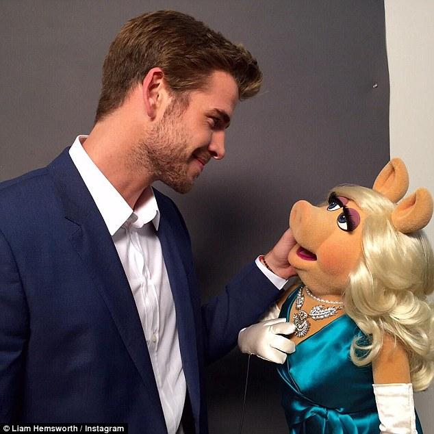 Liam Hemsworth & Miss Piggy