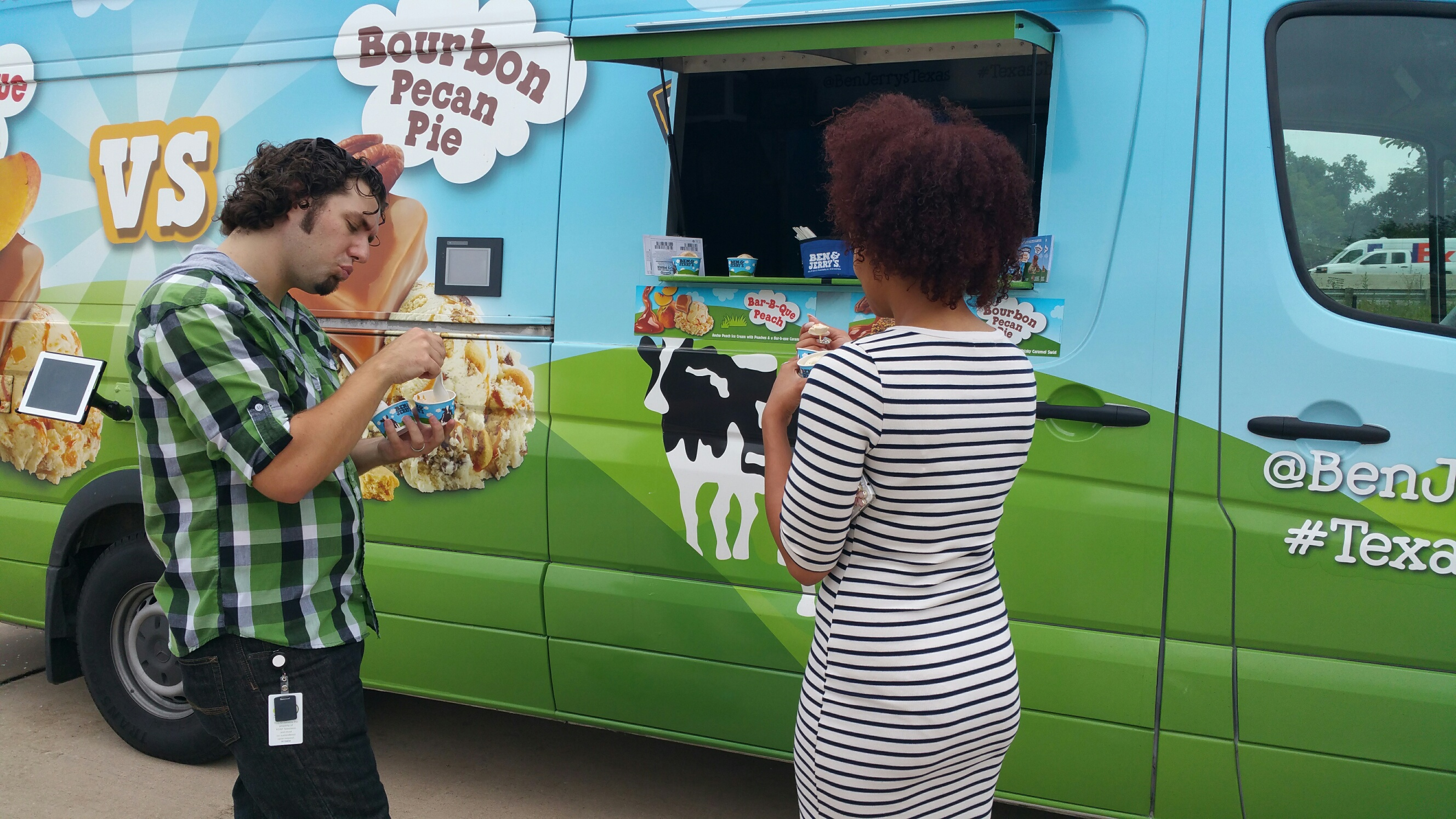 All's well when the Blue Bell food truck pulls into the parking lot.