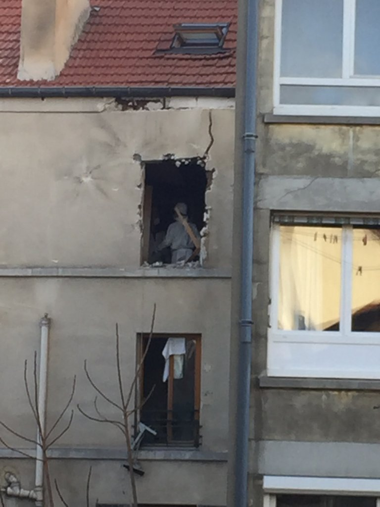 """Photo of apartment after raid: A violent, hours-long operation in a Paris suburb ended Wednesday November 18, 2015 with two suspected terrorists dead, seven detained, new attacks potentially thwarted and further proof, according to French President Francois Hollande, that his country is """"at war"""" with ISIS. The Saint-Denis raid targeted the purported ringleader of last week's bloody Paris attacks and came as the suspects were """"about to move on some kind of operation,"""" according to police sources."""