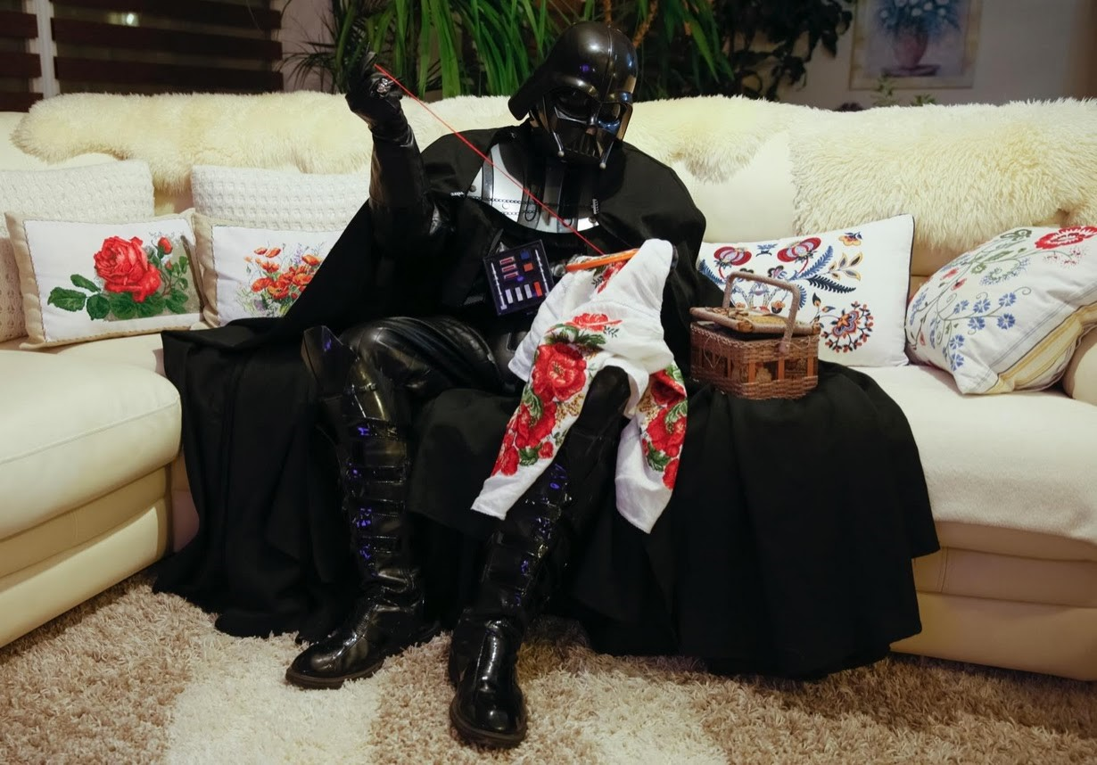 Darth Mykolaiovych Vader lost the race for mayor, but he stays busy. Credit: CNN