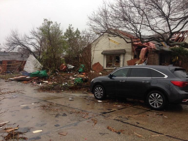 Tornado damage in Rowlett
