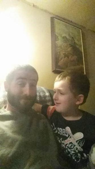 Chris Few and his 6yr old son, Jeremy Mardis, who was killed in the incident.