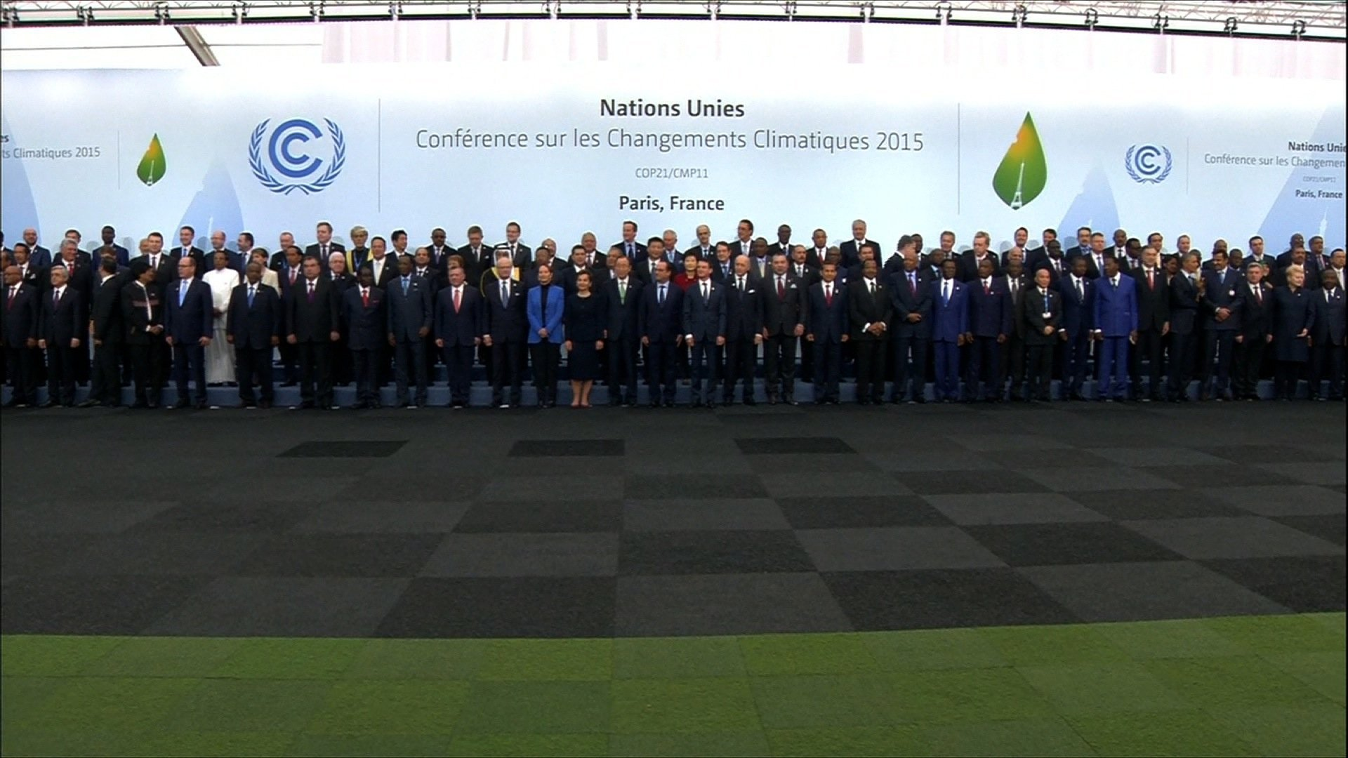 World leaders attend the COP 21 climate change summit in Paris, France.
