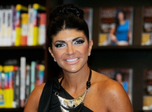 """DEPTFORD, NJ - JULY 10:  Teresa Giudice promotes """"Fabulicious"""" at Barnes & Noble on July 10, 2012 in Deptford, New Jersey.  (Photo by Bobby Bank/WireImage)"""