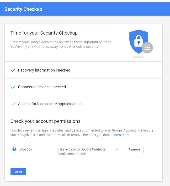 google check up