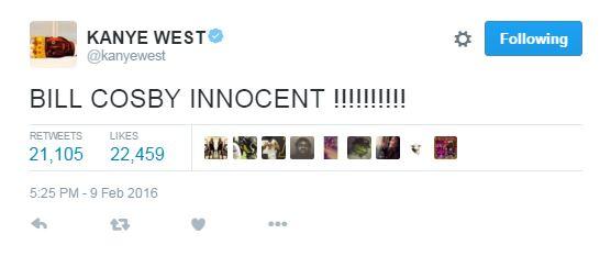 kanye bill cosby tweet
