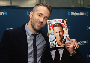 NEW YORK, NY - FEBRUARY 10:  Actor Ryan Reynolds poses with Editorial Director at PEOPLE and EW, Jess Cagle during SiriusXM's Entertainment Weekly Radio Special with Ryan Reynolds hosted by Jess Cagle at SiriusXM Studio on February 10, 2016 in New York City.  (Photo by Cindy Ord/Getty Images for SiriusXM)