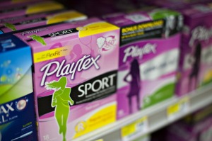 Energizer Holdings Inc. Playtex brand tampons sit on display in a supermarket in Princeton, Illinois, U.S., on Wednesday, April 30, 2014. Energizer Holdings Inc., known for its battery-powered pink bunny and Schick shavers, plans to separate its household products and personal-care units into two publicly traded companies. Photographer: Daniel Acker/Bloomberg via Getty Images