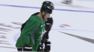 Jason Spezza (#90) has notched 30 goals for Dallas in his 13th season in the NHL.