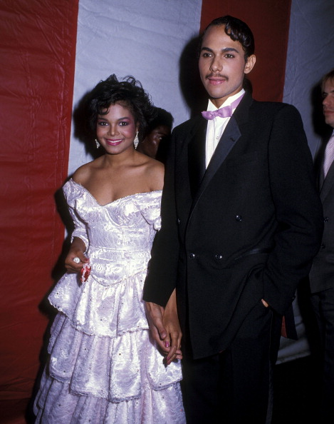 Singer Janet Jackson and husband James DeBarge attend the 12th Annual American Music Awards on January 28, 1985 at Shrine Auditorium in Los Angeles, California. (Photo by Ron Galella/WireImage)