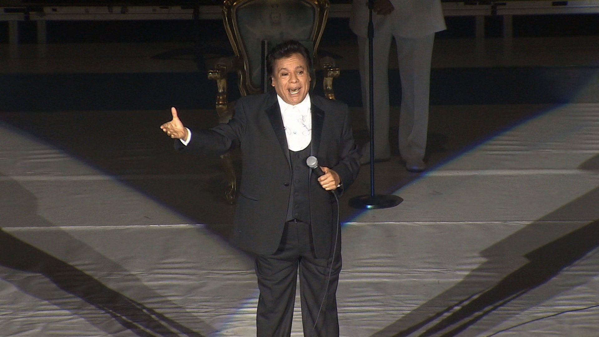 Juan Gabriel, Latin American music icon, performing at a concert in Mexico City, Mexico on May 11, 2015.