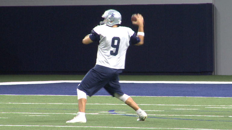 Despite 3 full practices, Tony Romo will again be inactive.