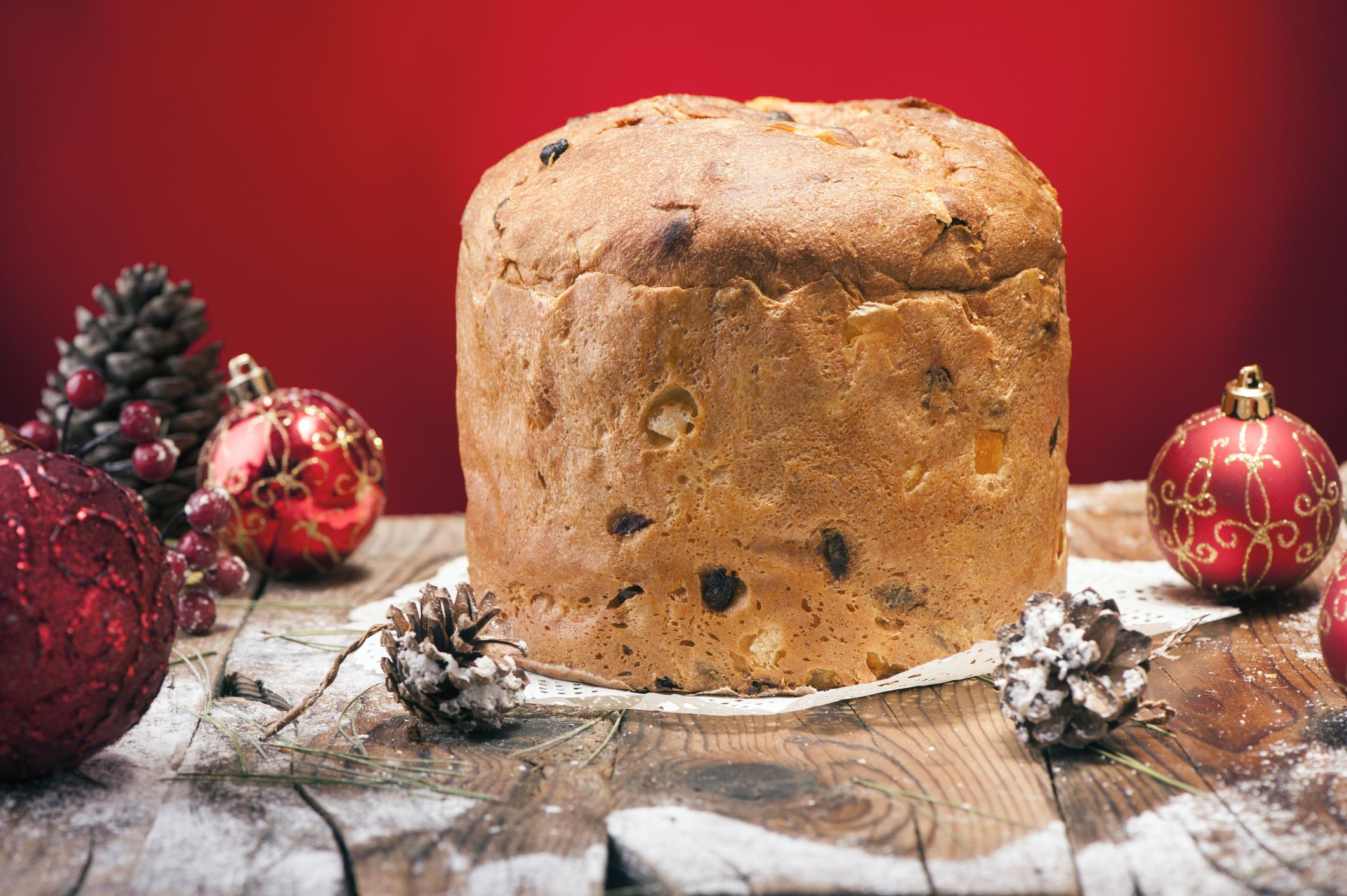 Homemade Panettone. Tradidional Italian Christmas Cake