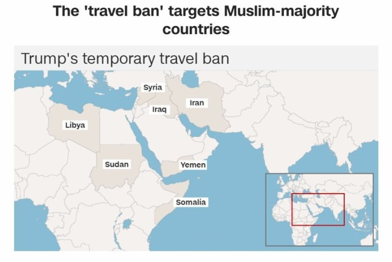 In the span of a weekend, President Trump's travel ban sent the country into crisis. There is passion on both sides of the issue, and as provisions and court orders and changes to the executive order fly from every direction, it's time to step back and look at some numbers that put the ban in context.