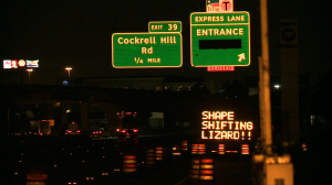 The second part of a Donald Trump related hack on a TxDOT sign in May, 2016.