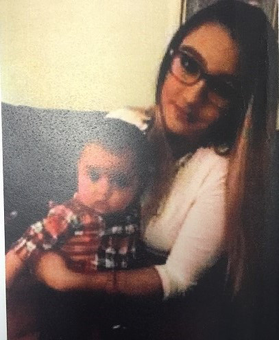 Lizzy Rivera Colindres and her son